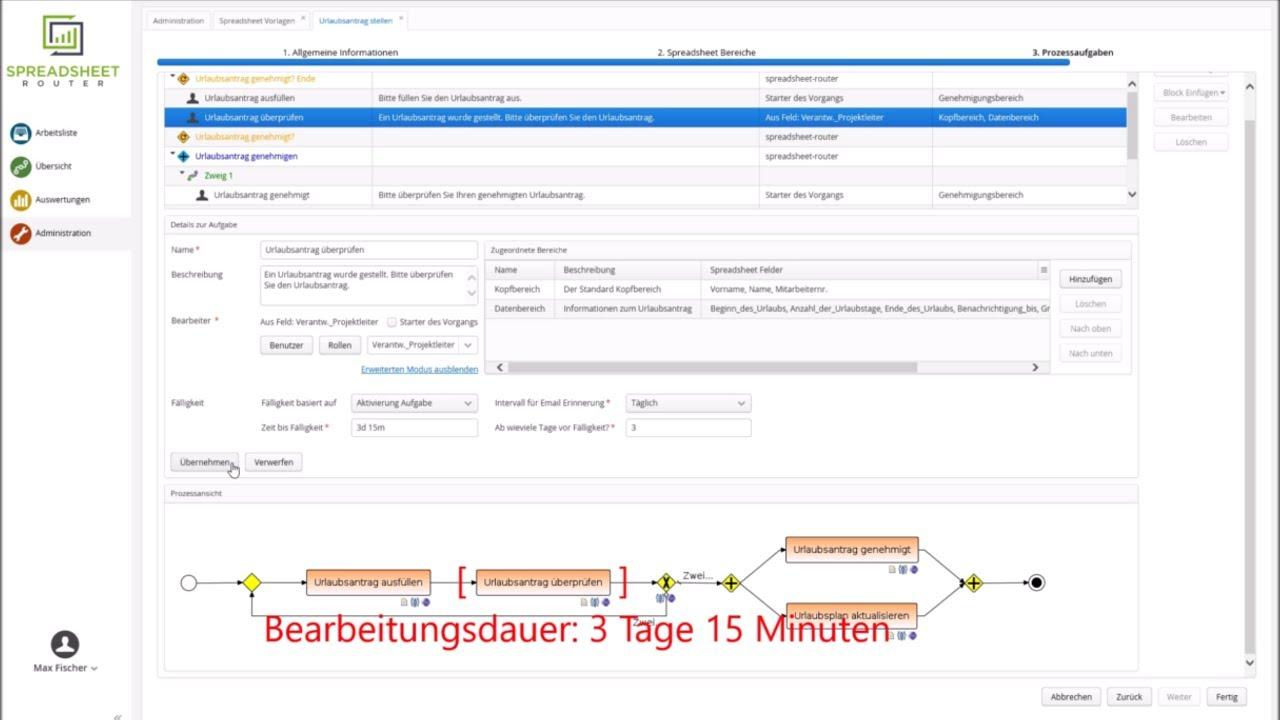 Youtube Video: Spreadsheet Router Tutorial: E-Mail-Benachrichtigung bei Fälligkeit einer Aufgabe