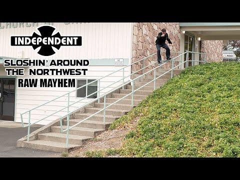 RAW MAYHEM w/ David Gravette and Chris Cookie Colbourn Sloshin Around | Independent Trucks