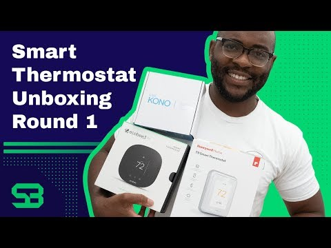 Smart Thermostat Unboxing: Ecobee3, Honeywell Home T9, Lux Kono