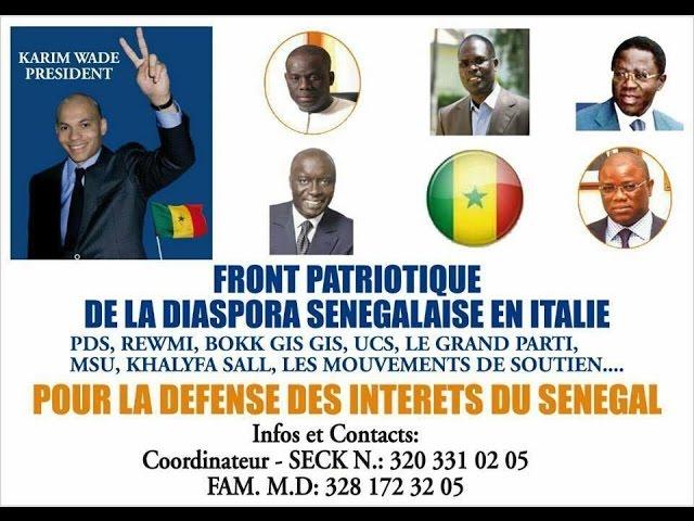 FRONT PATRIOTIQUE DE LA DIASPORA SENEGALAISE EN ITALIE