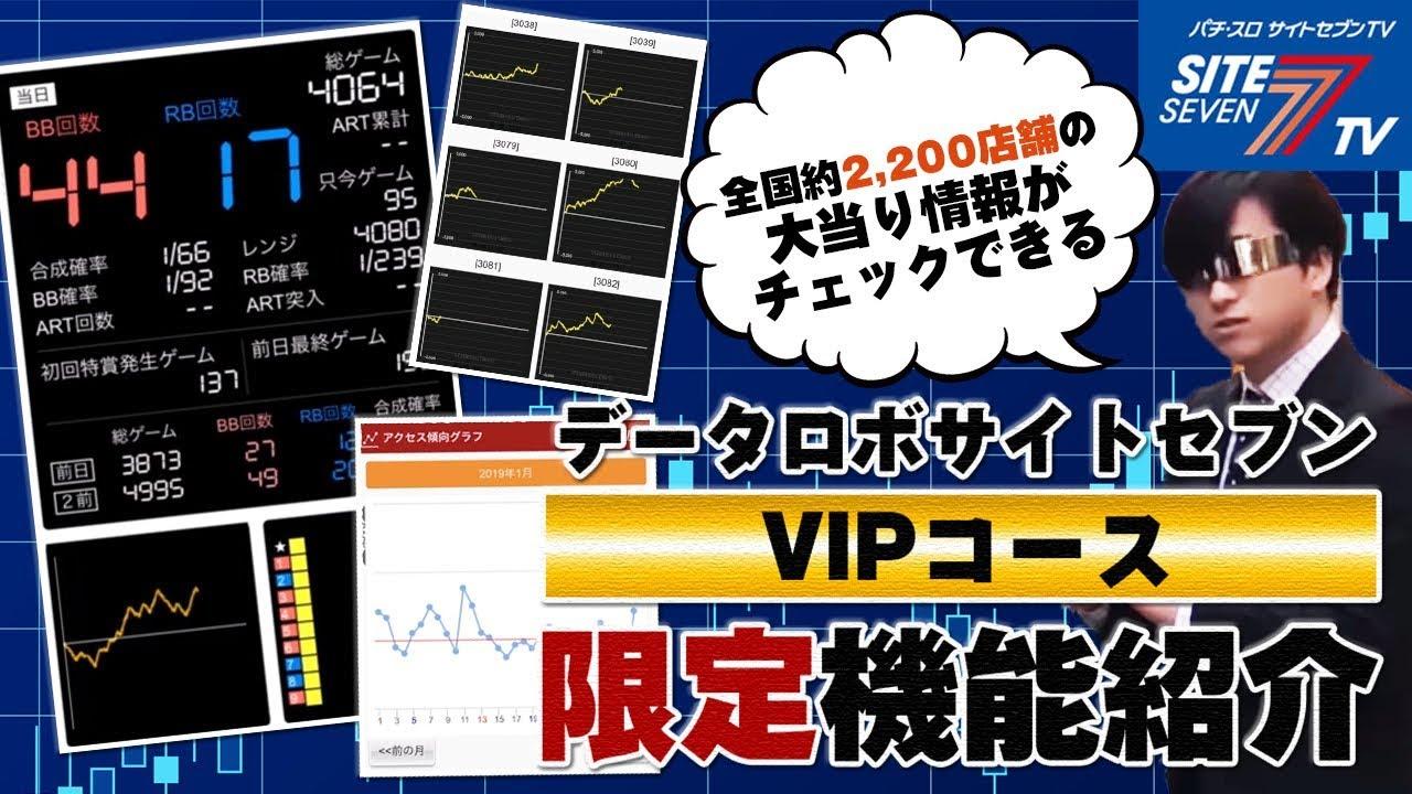 【VIPコース】データロボ サイトセブンの使い方 - YouTube