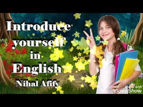 تعريف نفسك بالإنجليزية للأطفال والمبتدئين مع (نهال عفيفي) introduce yourself in English for kids and