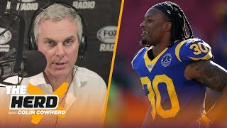 The Rams ate $20M to cut Todd Gurley, will sign with Falcons — Colin Cowherd | NFL | THE HERD