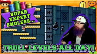 TROLL LEVELS ALL DAY! | Super Mario Maker 2 Endless Super Expert No Skip with Oshikorosu! [56]