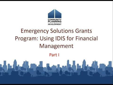 RSG Webinar: Emergency Solutions Grants Program: Using IDIS for Financial Management - 7/23/15
