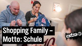 Shopping Family – teurer Einkauf für den Schulstart