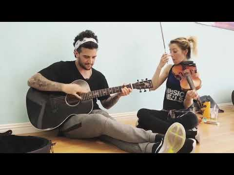 Lindsey Stirling And Mark Ballas Don't Worry-Madcon Acoustic Guitar And Violin Cover ! 🎻