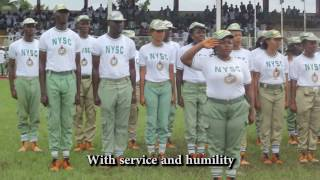 NYSC ANTHEM NCCF IMO (OFFICIAL VIDEO)