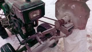 ИЗМЕЛЬЧИТЕЛЬ ЗЕРНА из минитрактора // Grain crusher mobile