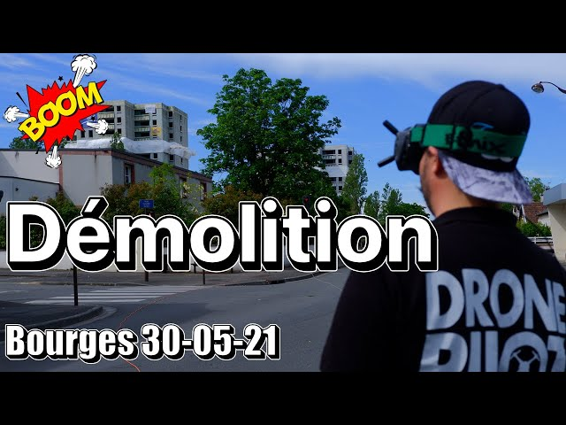 Démolition Bourges 30-05-21 | Je vous emmène en mission (dynamitage) !