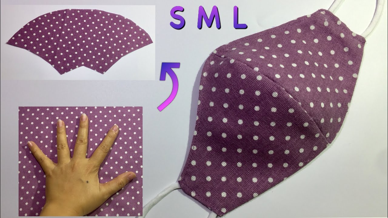 SPECIAL: Make masks WITHOUT RULER - It only takes 4 minutes for Make / DIY at home / Fule Size S M L