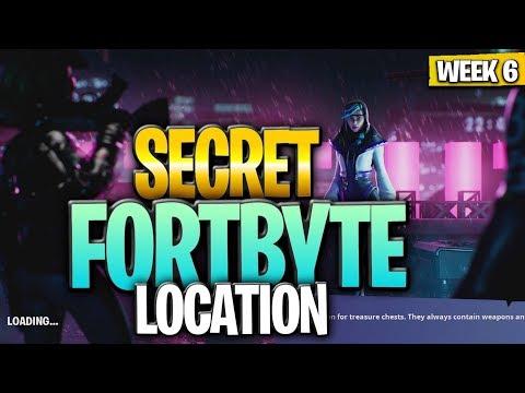 WEEK 6 SECRET FORTBYTE #2 LOCATION GUIDE! - Fortnite Find The Secret Fortbyte In Loading Screen 6