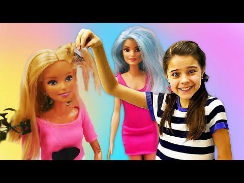 Куклы Барби: неудачный день Барби. Салон красоты - Игры для девочек
