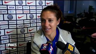 FOX 5 NY: Carli Lloyd on role in 2019 World Cup