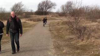 Zandvoort, fietstocht. Achter Zandvoort noord naar het kopje van Bloemendaal
