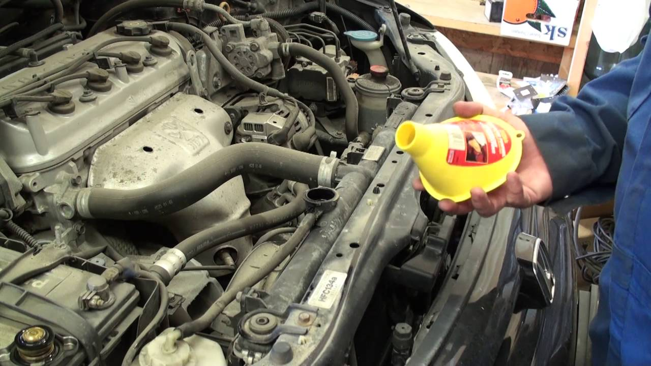 DIY 1998  2002 Honda Accord Coolant Change  Drain and Fill  YouTube