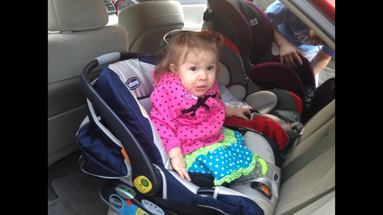 Infant Carrier That Is Not A Car Seat 3 Rear Facing Car Seats In Camry Youtube