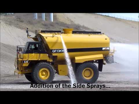 Ground Force Rigid Frame Water Truck featuring the 13,000 gallon, CAT 773 truck