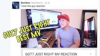 Download Video GOT7 JUST RIGHT MV REACTION (BAM BAM LOVES ME) REUPLOADED MP3 3GP MP4
