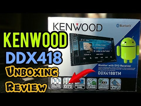 KENWOOD DDX-418BT 2017 Car Stereo Unboxing | Feature | Highlights