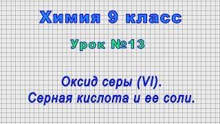 Химия 9 класс (Урок№13 - Оксид серы (VI). Серная кислота и ее соли.)
