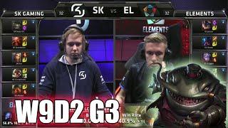 SK Gaming vs Elements | S5 EU LCS Summer 2015 Week 9 Day 2 | SK vs EL W9D2 G3
