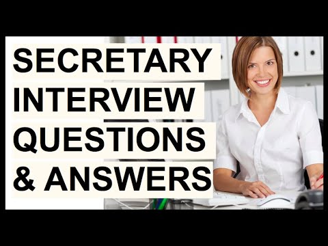 SECRETARY INTERVIEW QUESTIONS & ANSWERS! (How To PASS A Secretarial Interview!)