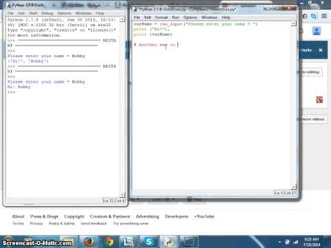 Python Tutorial 003 - How to print without Quotes?