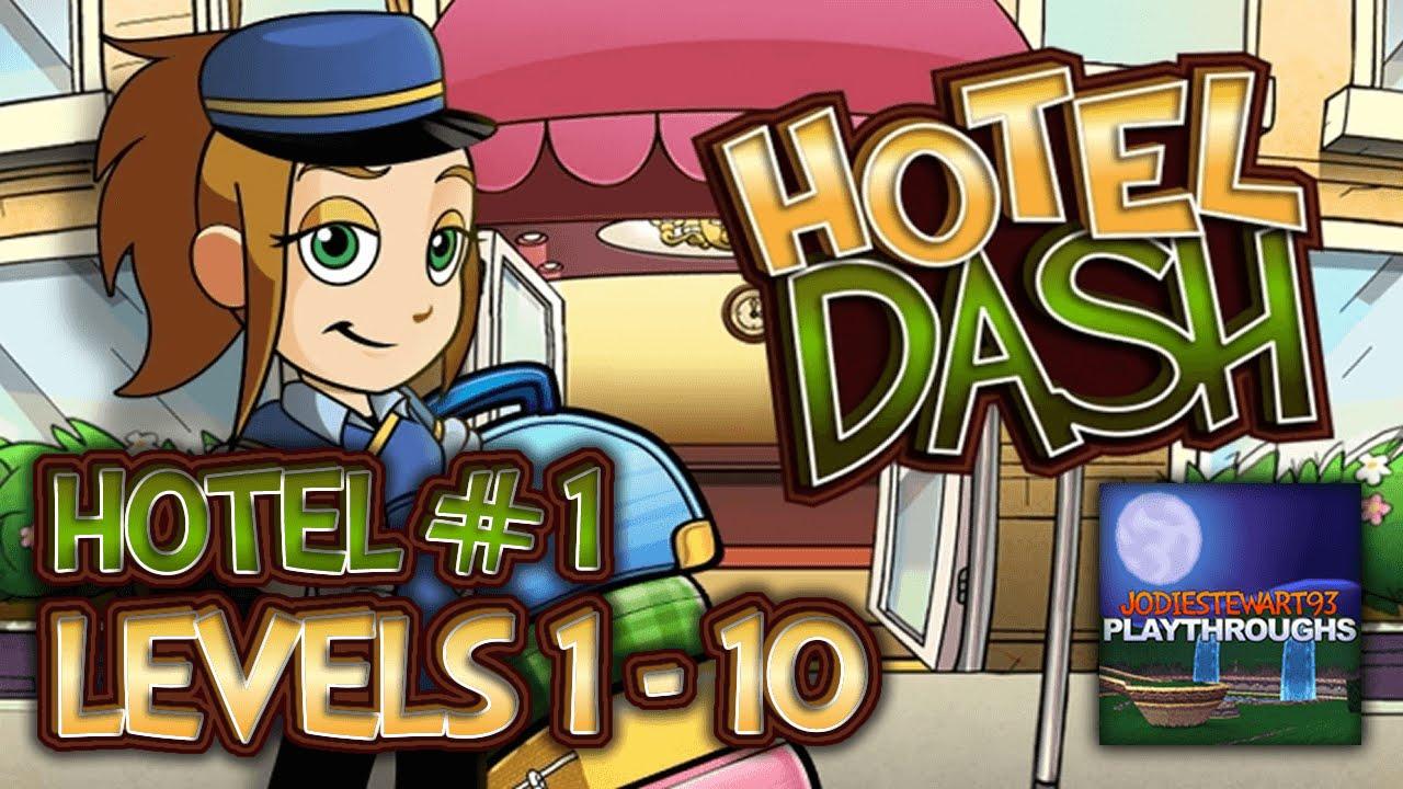 Hotel Dash 1 1st hotel Levels 1 - 10 - YouTube
