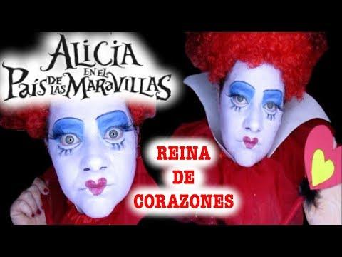 MAQUILLAJE REINA de CORAZONES/ villanos Disney /FOFUÑECAS