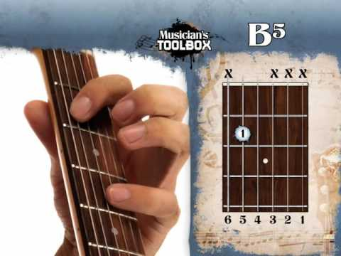 How to play the B power chord on guitar B5 - YouTube