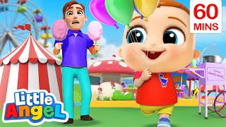 Playtime At The Theme Park + More Little Angel Kids Songs & Nursery Rhymes