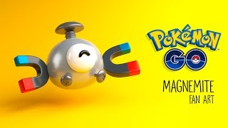 Magnemite - Pokemon Go fan art