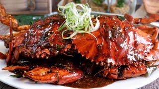 Super Easy Singapore Black Pepper Crab Recipe 黑胡椒螃蟹