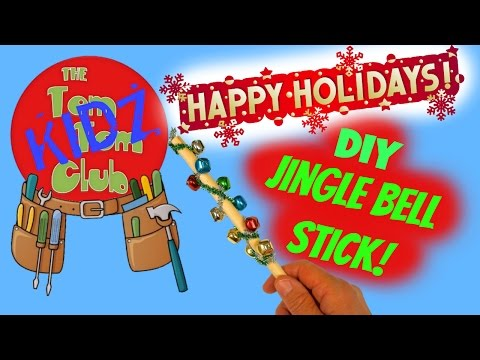 Make Your Own Pre School Musical Instruments  |DIY Christmas Jingle Bells Stick