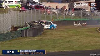 Touring Car Masters 2018. Race 2 Sandown Raceway. Marcus Zukanovic Crash