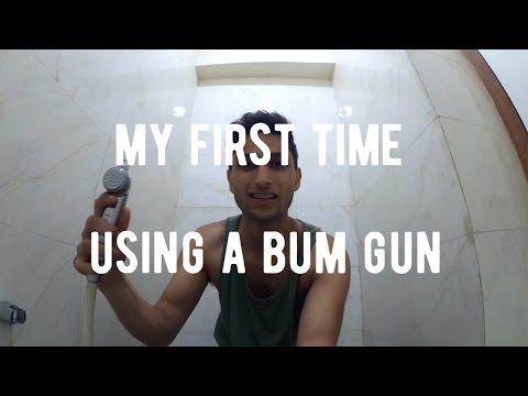 My First Time Using a Bum Gun aka Bidet Sprayer   India Travel Vlog