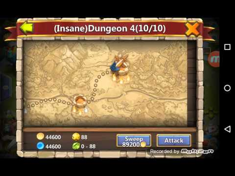 Castle Clash Insane Dungeon 3-10  3flame