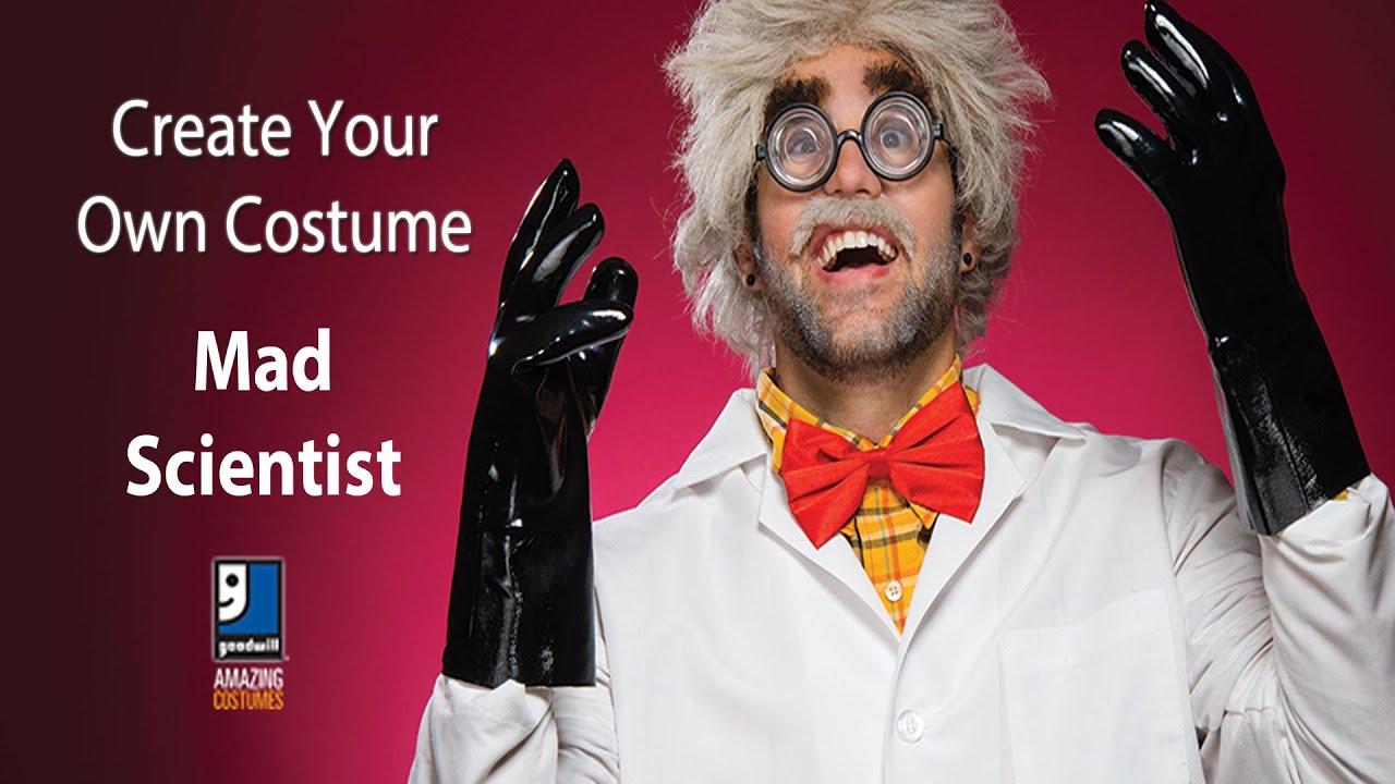 mad scientist halloween diy costumegoodwill home decor expert
