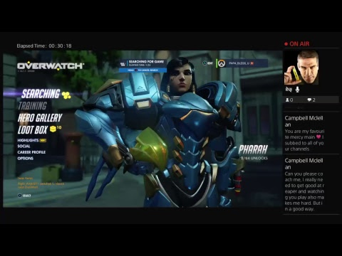 Live PS4 Overwatch Broadcast