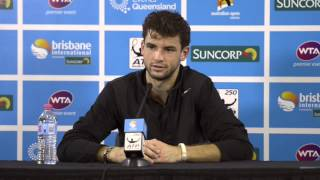Grigor Dimitrov Semi Final Press Conference: Brisbane International 2013