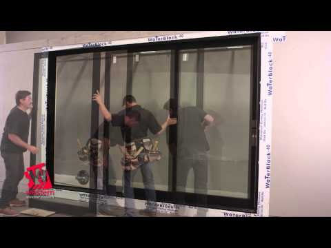 Western 2600 Series Wood Aluminum Clad Multi Slide Door Installation