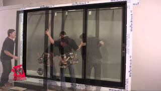 Western 2600 Series Wood Aluminum Clad Multi Slide Door Installation