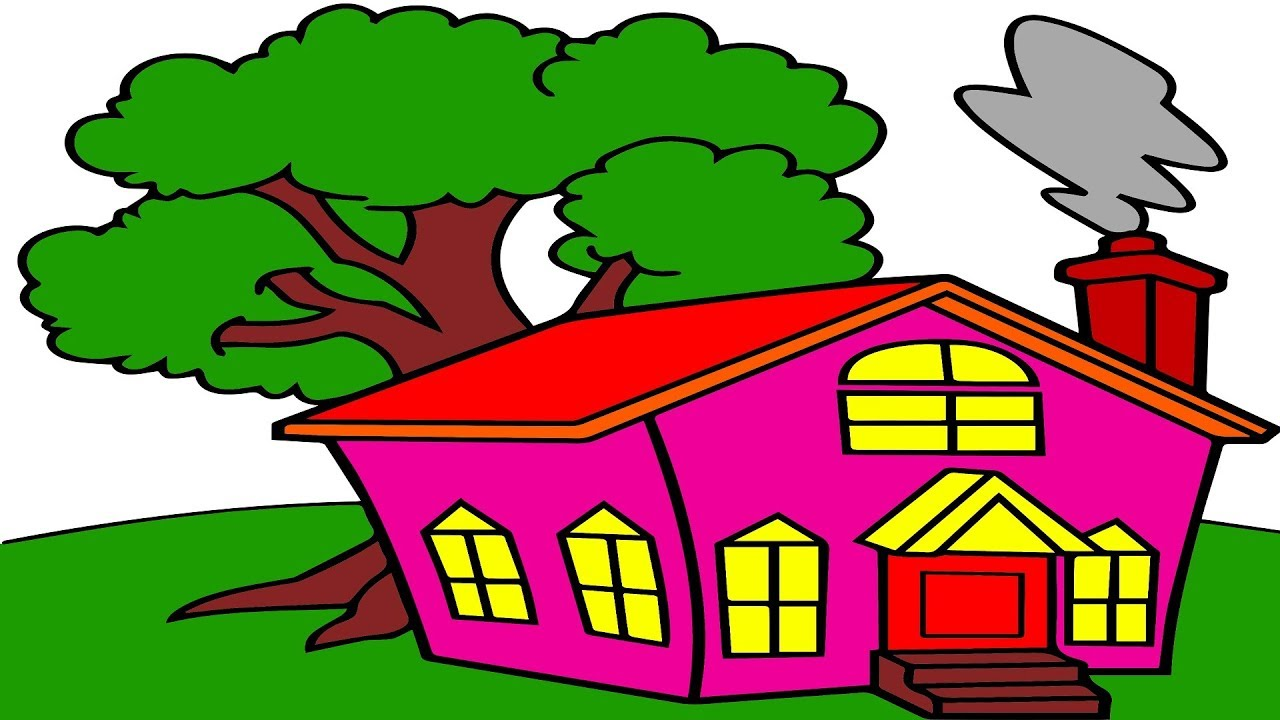 how to draw a house with markers