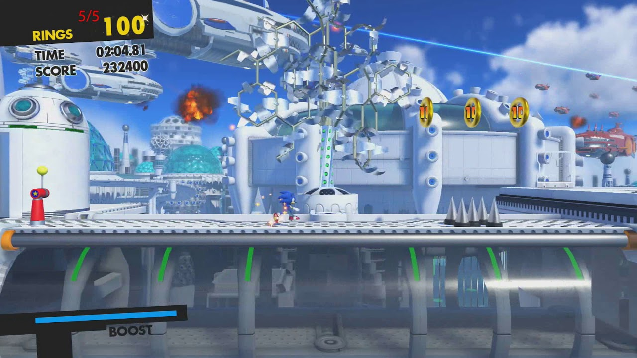 Sonic Forces Stage  All Red Rings