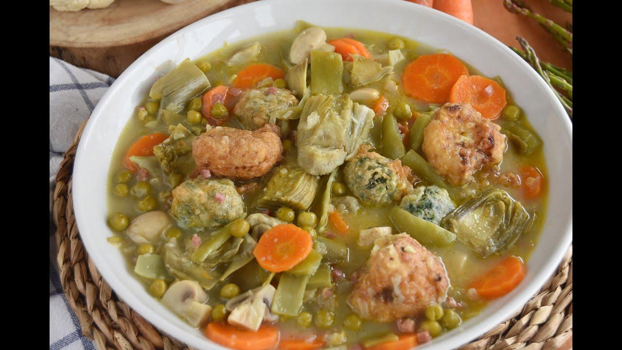 Menestra de verduras receta tradicional/ GUISO DE VERDURAS