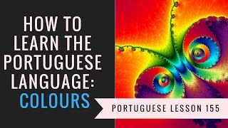 how to learn Portuguese (colours)