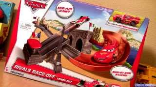 Cars 2 Rivals Race Off Track Set 2014 Side by Side Racing Disney Pixar Cars Playset Review NEW Track