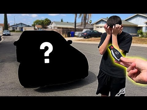 I pranked him... then I BOUGHT him his DREAM CAR!! **emotional surprise**