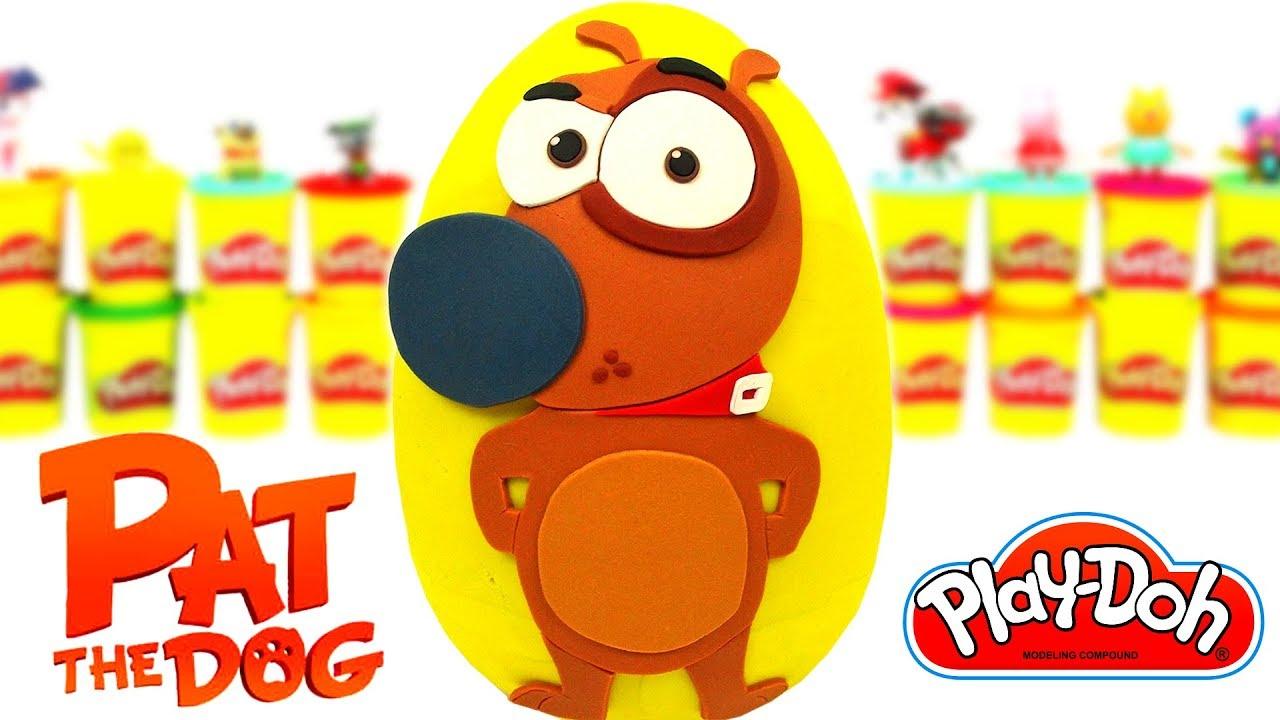 Huevo Sorpresa Gigante De Mi Perro Pat De Plastilina Play Doh